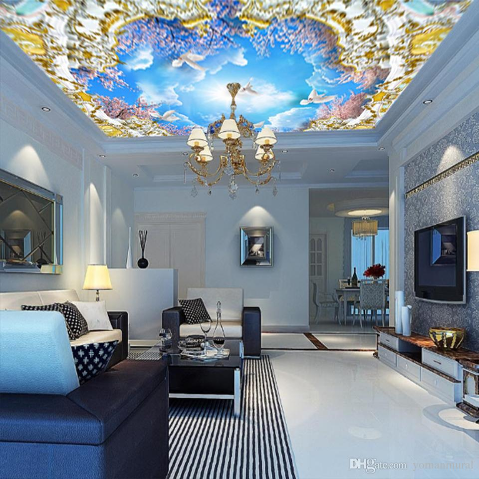 Custom Wall Murals Star Space for Living Room 3 D Photo Hotel Lobby Meeting Room Ceiling Mural wall papers Home Decor