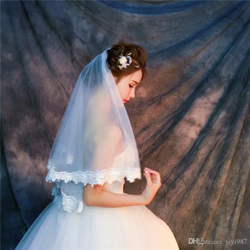 Wholesale voiles vraies photos violet voiles blanches pour la mariée ivoire bonne tulle rapide livraison gratuite de vente en gros voiles