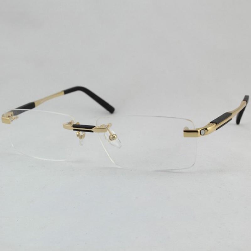 5046e6be84df 2019 Wholesale Chashma Brand Brand Designer Titanium Glasses Rimless Mens  Optical Glasses Frame From Wdrf
