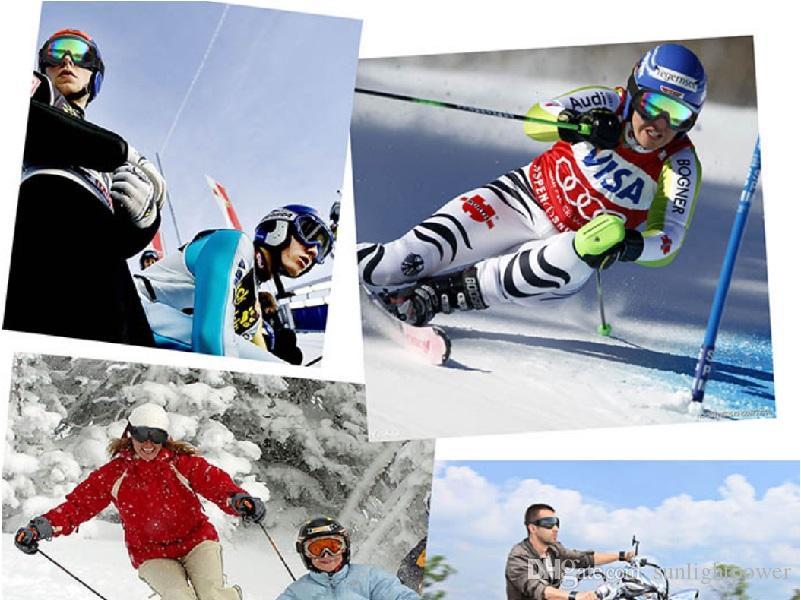 UV Koruma Spor Kayak Snowboard Paten Gözlük Camları Motosiklet Off-Road Kayak Gözlüğü Gözlük Gözlük Renkli Lens