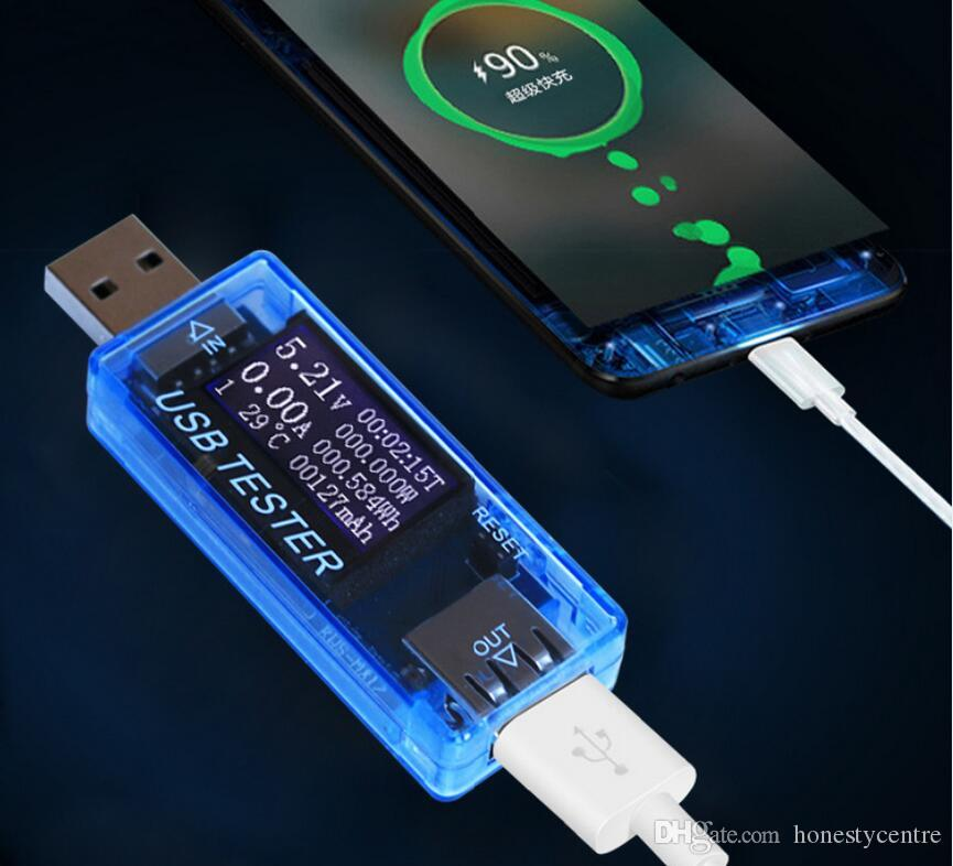 8 in1 USB tester Digital Electical energy power bank charger indicator voltmeter current voltage meter detector
