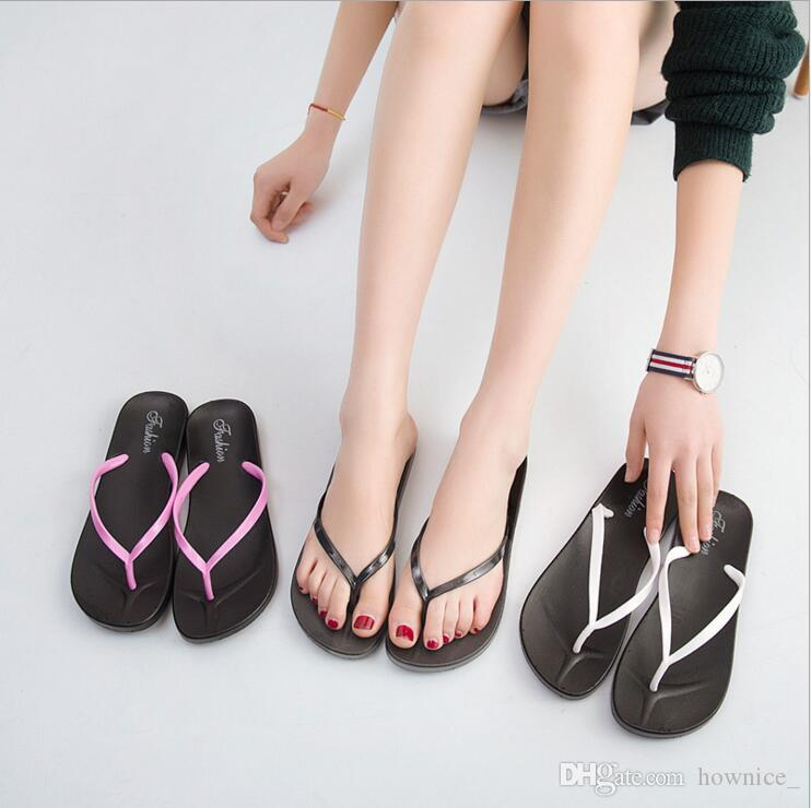 Summer Gilrs Gilrs Dot Beach Flip Flops Anti-slip Slipper Casual Shoes Shoes Donne