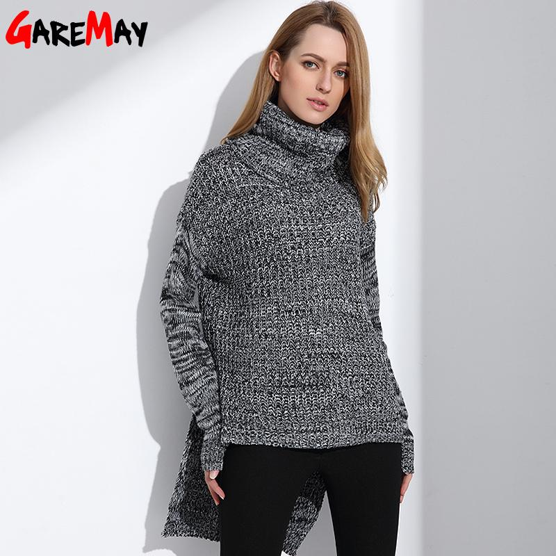 ad178d387b6 2019 Wholesale Womens Turtleneck Sweater Winter Warm Knitwear Oversized  Sweater For Women Tops Fashion Long Clothing Ladies Jumpers GAREMAY From  Keviny