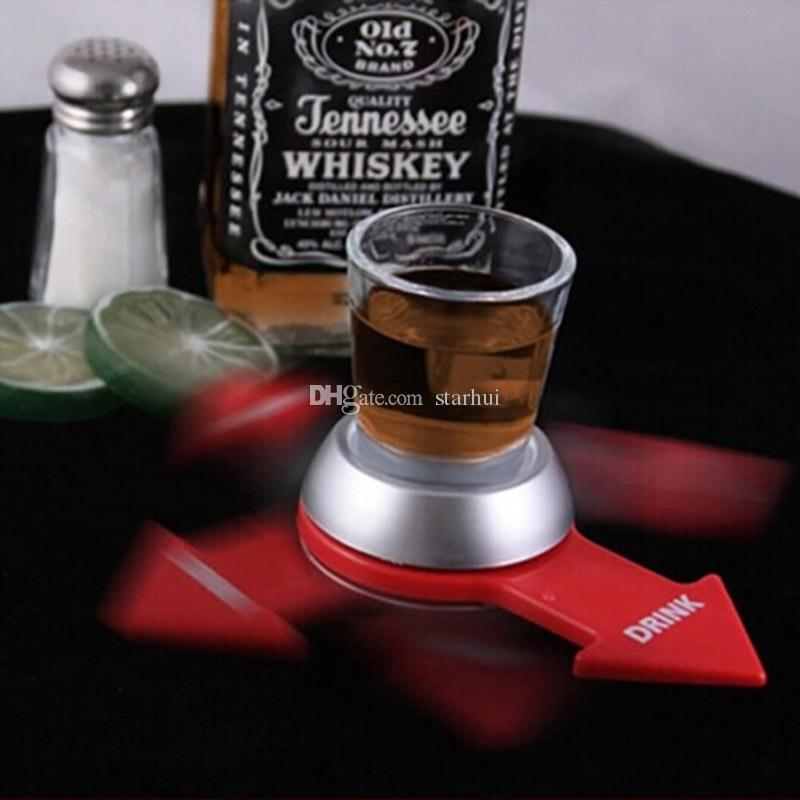 Funny Spin The Shot Flèche Platine Novelty Shot Drinking avec roue Spinning Funny Party Item En Stock WX-C78