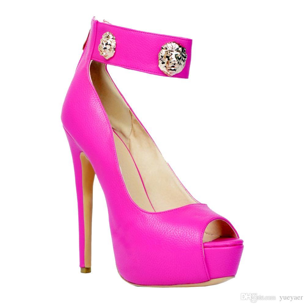 Zandina Womens Fashion Handmade 145mm 삐 - 발가락 앵클 스트랩 하이 힐 플랫폼 파티 댄스 파티 샌들 신발 Rosemary XD152