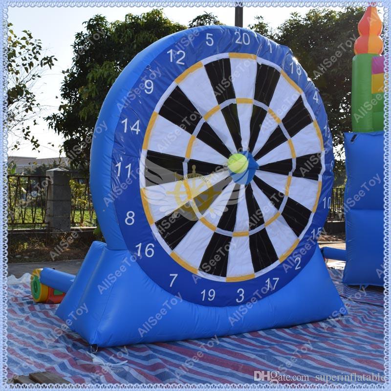 HOT 3 Meter Aufblasbarer Fußpfeil, Aufblasbare Dartscheibe, Aufblasbares Dartspiel Kommerzielles Qualitätsballspiel