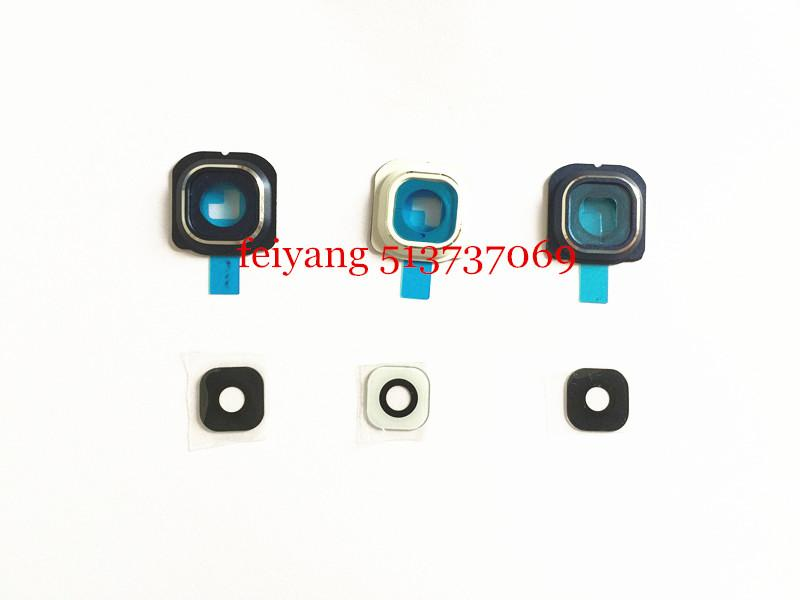 Original new for Samsung Galaxy s6 G920/S6 Edge g925 Back Rear Camera Lens And Lens Cover with real glass