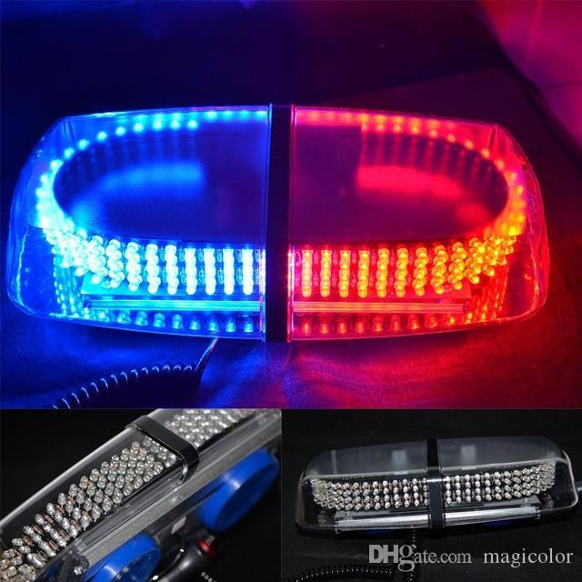 Vehicle roof strobe lights 240led warning light emergency strobe vehicle roof strobe lights 240led warning light emergency strobe light led mini light bar with magnet dc12v red blue white amber emergency rechargeable led aloadofball Images