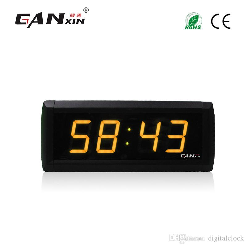 [Ganxin] 1,8-Zoll-LED-Display Wanduhr Modern Design Countdown-Timer Rot Ultra-Helligkeits-Licht Tubes USB Led Clock