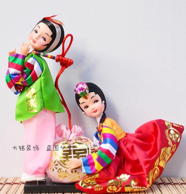 La bambola bambola di seta popolare coreana di spedizione completa presenta regali ragazza coreana ornamenti regalo di nozze