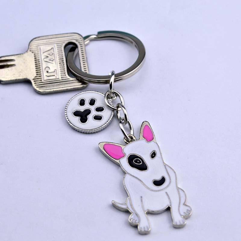 American Pit Bull Terrier keychains Pet key ring dogs pendants keychains woman Car key ring Tag best friend gift