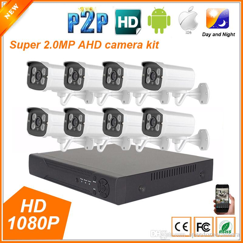 2018 8ch Ahd 1080p 2mp Full Hd Home Outdoor Cctv System Kit 8 ...