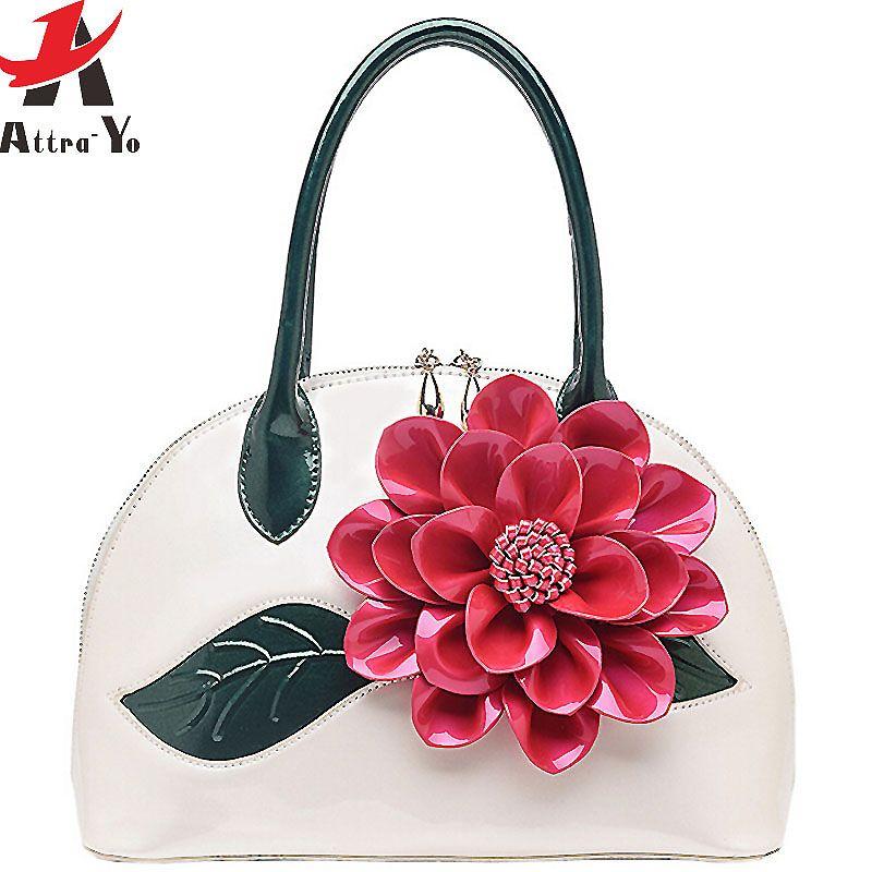 3be712b3a507 Wholesale Atrra Yo Women Leather Handbags Designer Women Handbag Messenger  Bags 2016 Retro Flower Bolsas Women S Bag Summer Style LM3028ay Branded Bags  ...