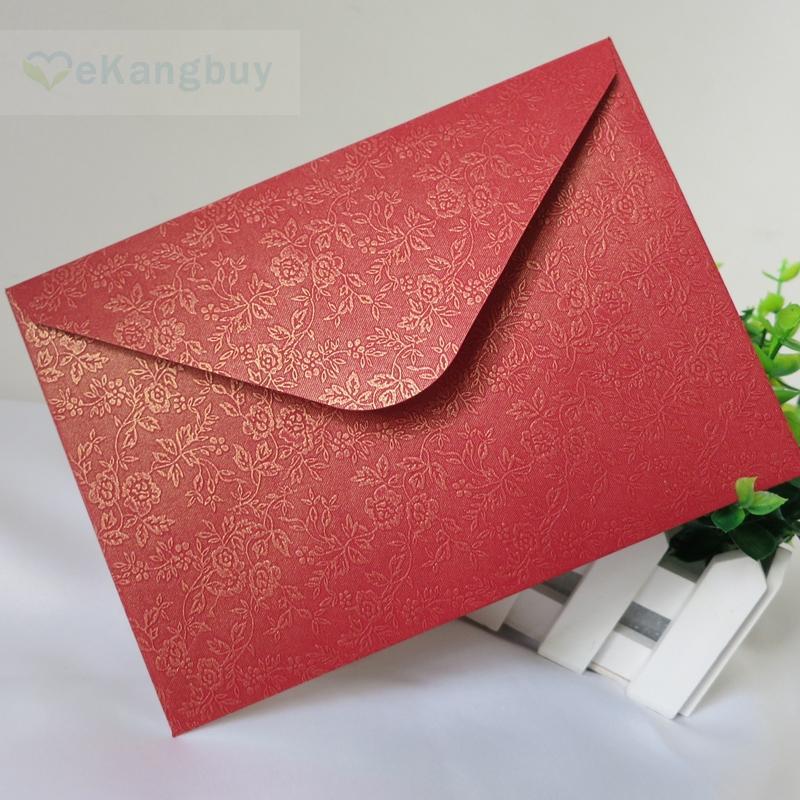 floral red envelope wedding invitation envelopes red gift envelopes