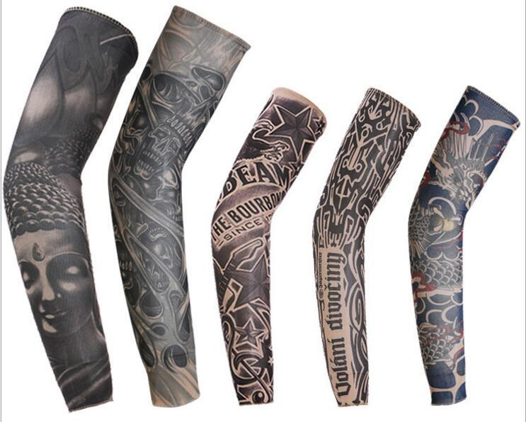 124126dc6 Random Temporary Fake Slip On 3D Tattoo Sleeve Arm Sleeves Kit Elastic Arm  Stockings Tatoo For Cool Men Women Safety Coveralls Postcard Sleeves From  ...