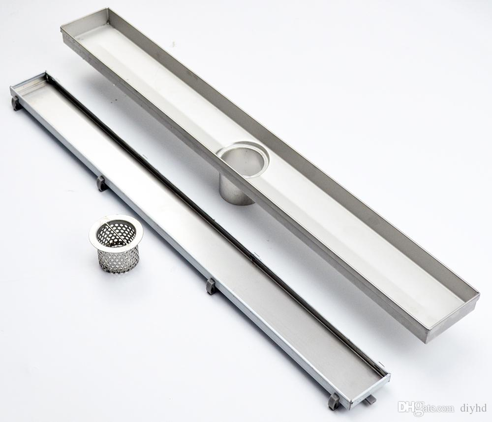 2018 Diyhd 23 3/5 39 2/5 Tile Insert Linear Shower Drain Long Floor Drain  Stainless Steel Brushed Shower Drain Channel From Diyhd, $65.33 | Dhgate.Com