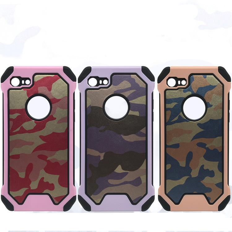 Army Camo Camouflage Pattern back cover Hard Plastic TPU Armor Anti-knock protective case for iphone 6 6plus for iphone 7 7plus Phone Case