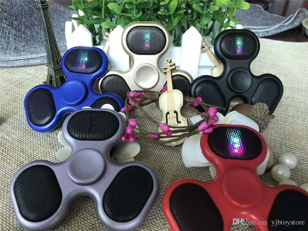 Led Bluetooth Mp3 Audio Player Fid Hand Spinner Support Micro Sd