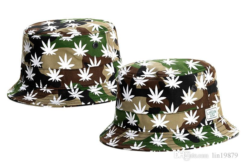 d2903ff0d3f Hot Fashion Camping Hiking Hunting Fishing Outdoor Bob Cotton Cayler   Sons Leaf  Bucket Hats Hip Hop Caps Men Women Funny Hats Hat World From Lin19879