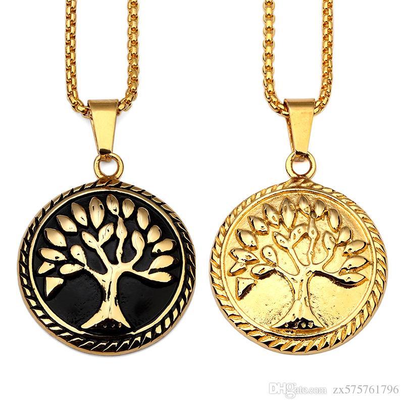 Wholesale Fashion Design Male Charms Hip Hop Chains Necklace Cool Filling  Pieces Mens Hip Hop Rock Jewelry Pendant Necklaces Tree Of Life Pendants  Necklaces ... 1c0cddf28012