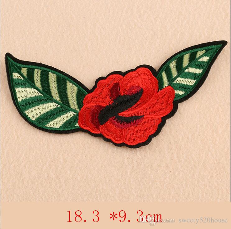 Flower Bird Applique Embroidered Iron on Patches For Clothes Bags Fabric Sticker For Repair Handwork Craft Decoration