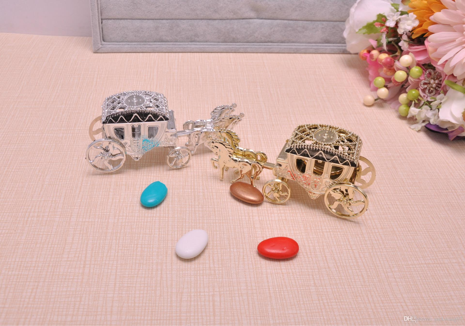 Horse Shape Cinderella Carriage Wedding Favor Boxes Candy Box ...