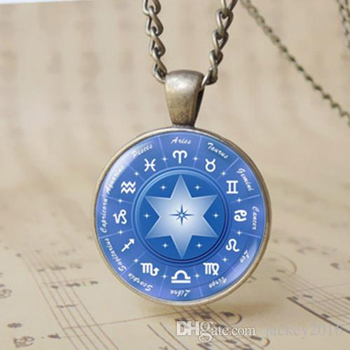 Wholesale 2017 ethnic astrology compass zodiac pendant necklace 12 wholesale 2017 ethnic astrology compass zodiac pendant necklace 12 zodiac symbol hexagram magic circle compass jewelry men boys girls present t1083 mozeypictures Gallery