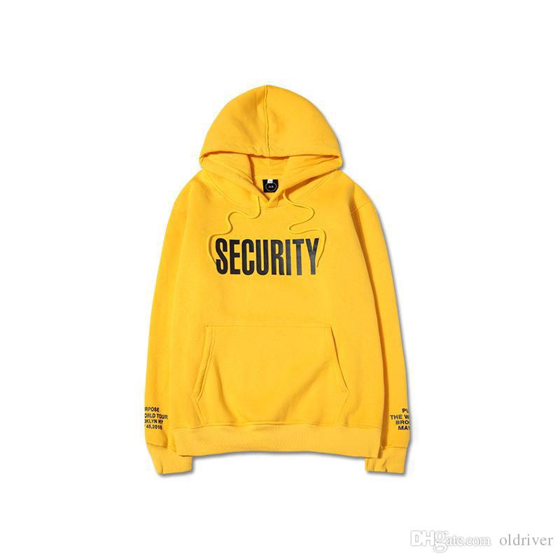 3df136311e3 2019 Justin Bieber Hoodies Fear Of God Purpose Tour Men Yellow Pullover  Sweatshirt Spring New Long Sleeve Man Lovers Hooded Sweatshirt F From  Oldriver