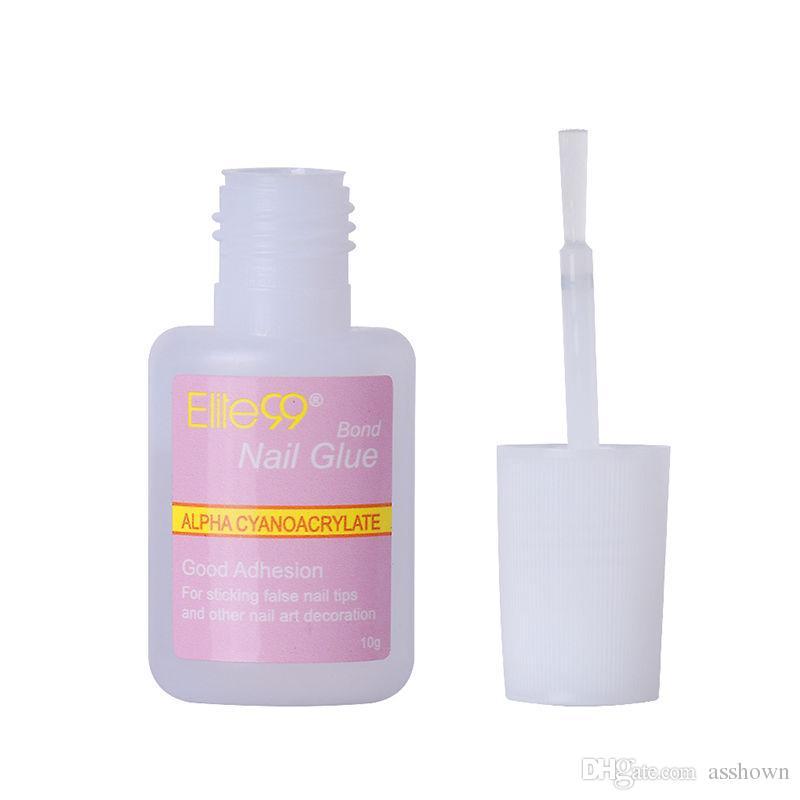 Novo Estilo Manicure Kit 10g Forte Cola Falso Dica Falsa Acrílico Nail Art Decoração frete grátis
