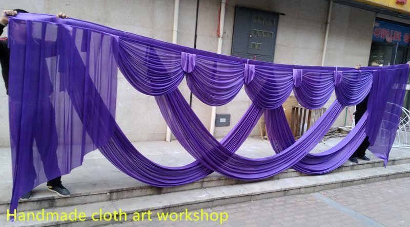 6M تصاميم واسعة الزفاف أصمام swags للخلفية حزب الستار الاحتفال مرحلة خلفية الستائر