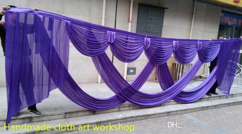 6m wide designs wedding stylist swags for backdrop Party Curtain Celebration Stage backdrop drapes