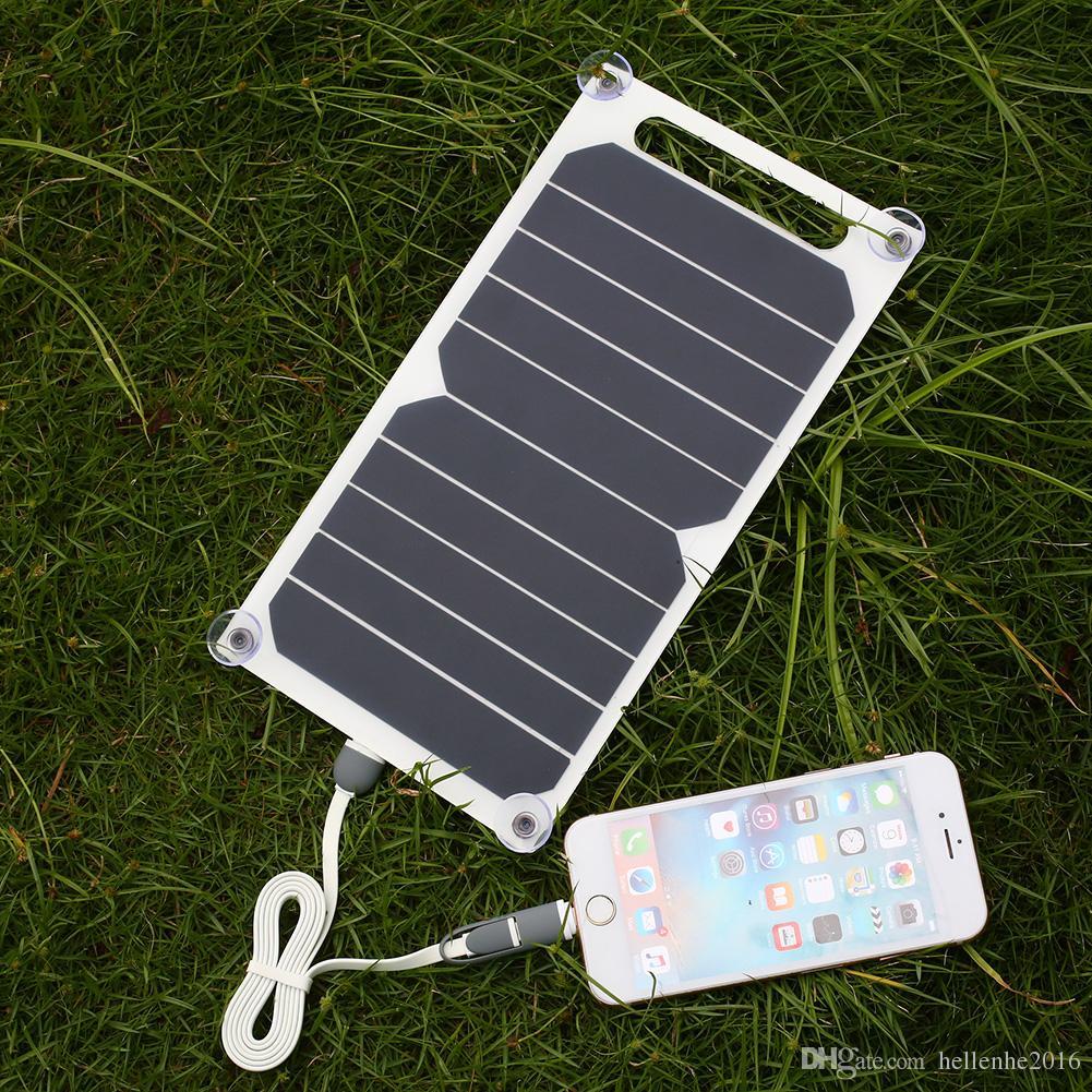 모바일 스마트 폰 삼성 패널 충전기 USB 충전 출력 전류 1000mAh의 태양 전지 패널 은행 5V 5W 태양 광 충전기 전원 은행