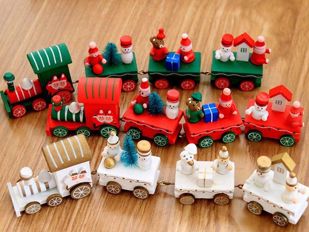 Decorazioni In Legno Per Bambini : Acquista decorazioni di buon natale multicolor legno piccolo