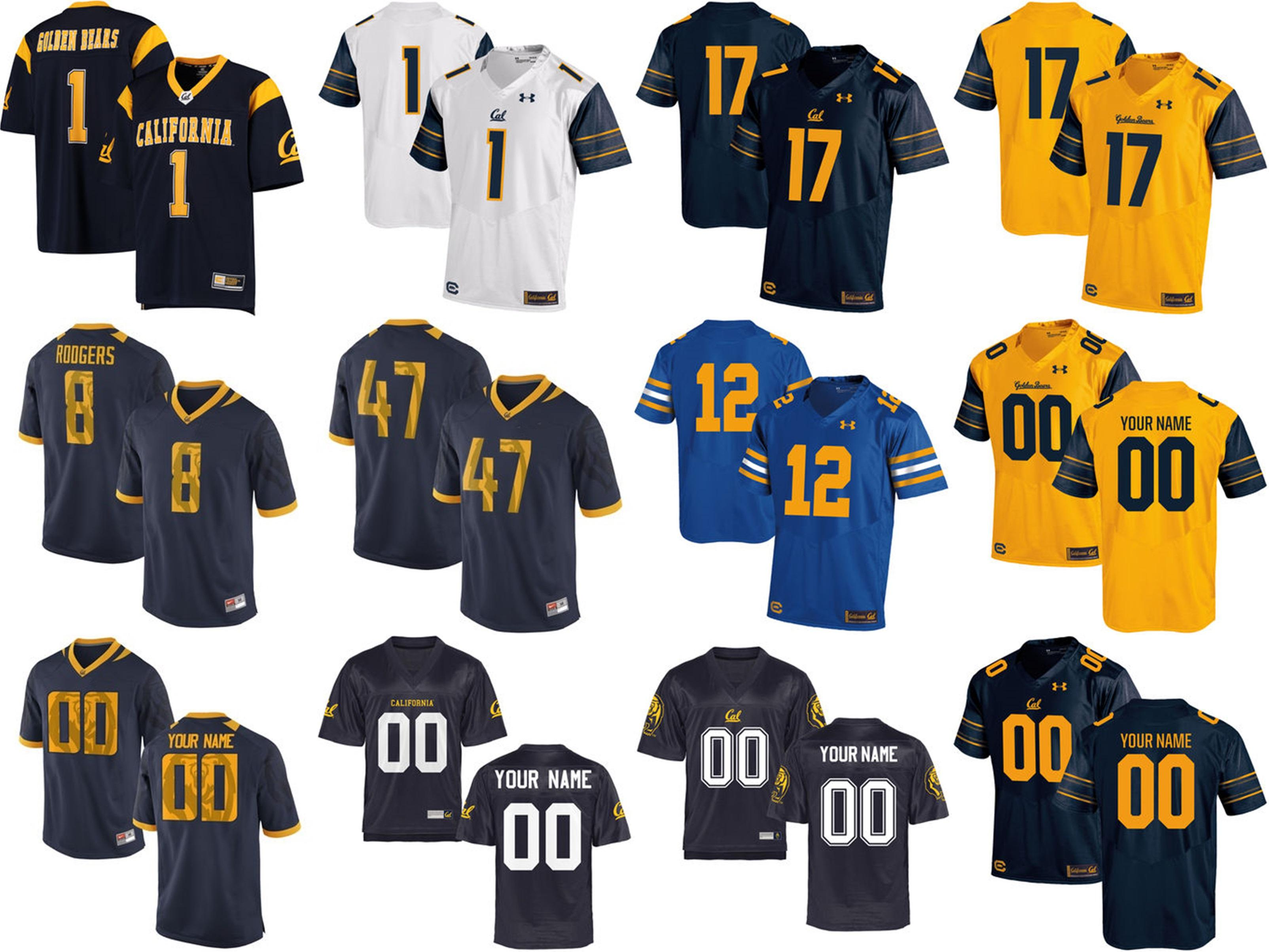 Customize NCAA Cal Bears Mens Womens Kids Jersey Custom Any Name Any No.  100% Stitched S-6XL College Football Jerseys Hot Sale Best Quality Jerseys  Cal ... 10b3bd6af
