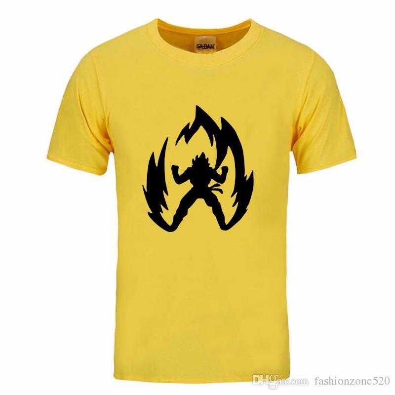Japan Anime Dragon Ball T Shirt Super Saiyan Short Sleeve T shirt New 2017 Summer Men Son Goku Tees Tops Men Clothes DIY-0138D