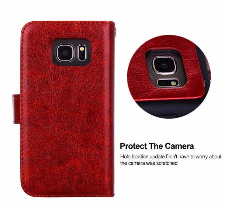 Carta magnetica rimovibile PU Custodia portafoglio in pelle staccabile Retro Flip Cover iphone X 8 7 plus 6 6s plus 5s samsung nota 8 s9 s9 plus s8