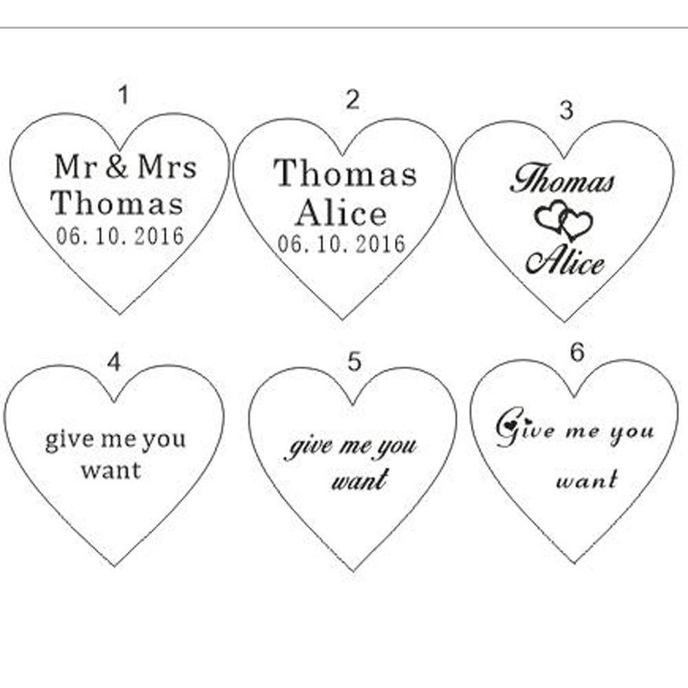 Wholesale Customized Crystal Heart Personalized Mr Mrs Love Heart ...