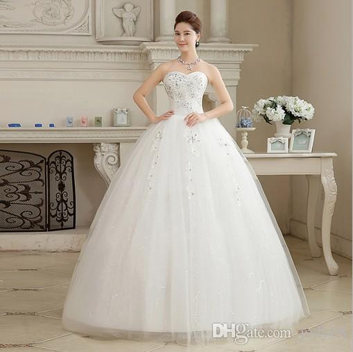 2017 New Very Good Quality Wedding Dress Sweetheart Neckline