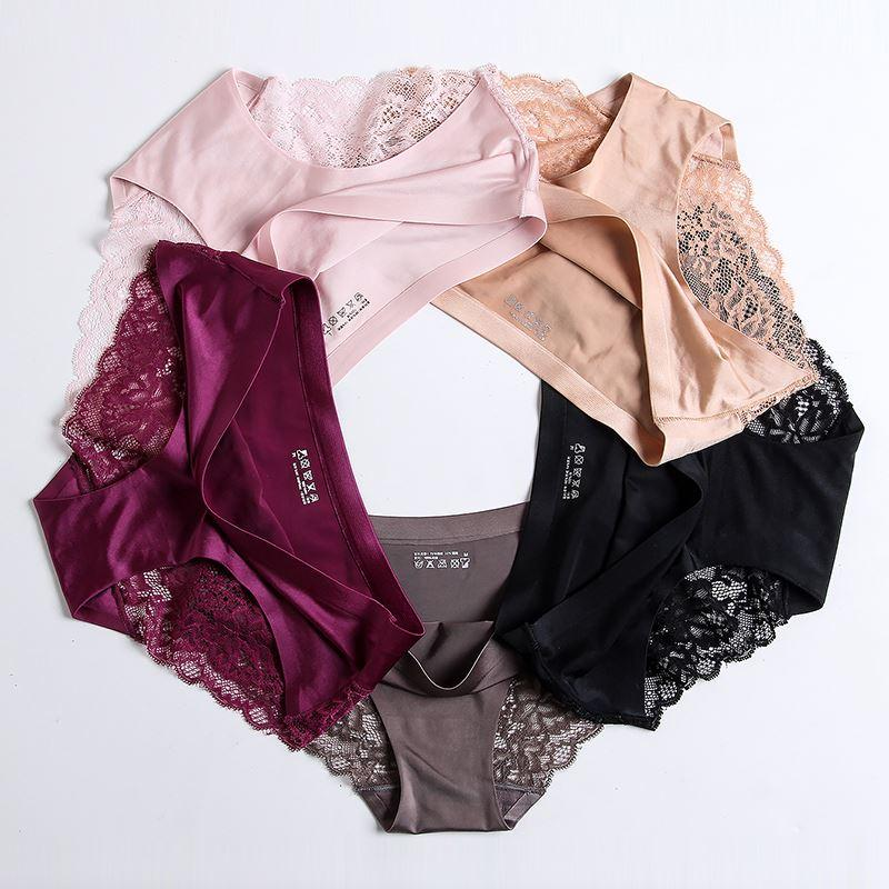 f7800b397a9 Awaytr Wholesale Women s Sexy Lace Ice Silk Panties Seamless Panty ...
