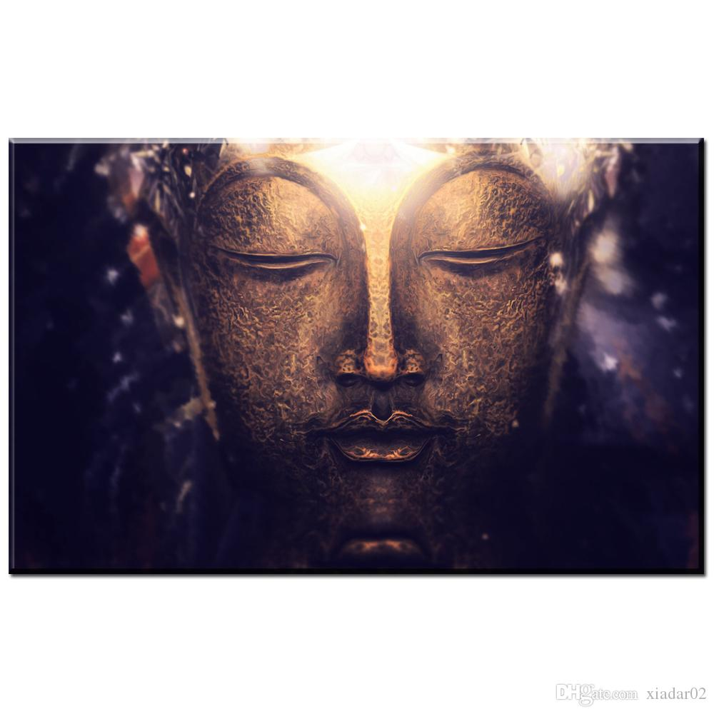 ZZ456 modern decorative canvas art buddha canvas pictures wall oil art painting for livingroom bedroom decoration unframed art
