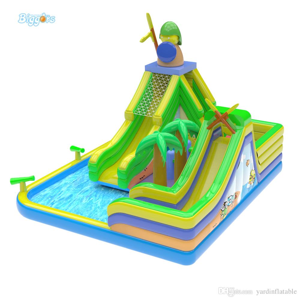Commercial Grade Factory Price PVC Tarpaulin Inflatable Water Park Pool Slide Backyard Inflatable Water Slide For Sale