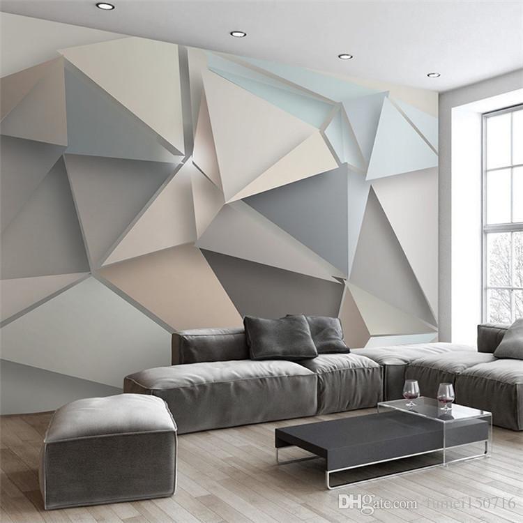 Großhandel Benutzerdefinierte Foto Tapeten 3D Moderne TV Hintergrund  Wohnzimmer Schlafzimmer Abstrakte Kunst Wandbild Geometrische  Wandverkleidung Tapete ...