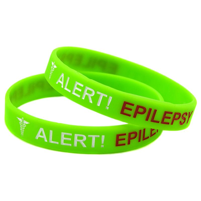 Alert Epilepsy Silicone Wristband Bracelet What Better Way To Carry The Message Than With A Daily Reminder!