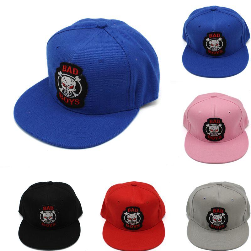 ccd5d70096460 Creative Skull Logo Flat Brim Cap for Men Women Casual Unisex ...