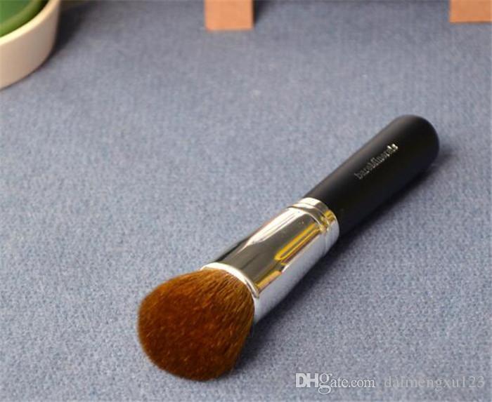 minerais escova cosmética com lã e cabo de madeira, pincel de pó, pincel de blush, pincel de maquiagem macia A127