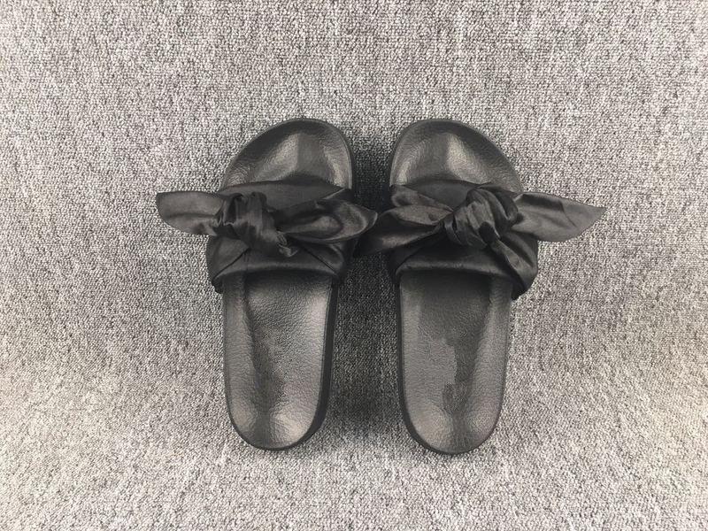 49ea9d5aeba1 Women Slipper Fenty Rihanna Slippers Bow Bandana Slide Slippers Fenty Bow  Slides For Women Indoor Slides With Box And Dust Bags High Heel Shoes  Designer ...