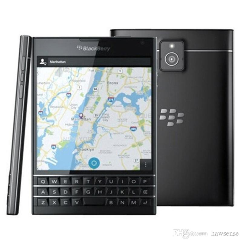 Refurbished Original Blackberry Passport Q30 Unlocked Cell Phone 4.5 inch Quad Core 2.2 GHz 3GB RAM 32GB ROM QWERTY Keyboard Free DHL 1pcs