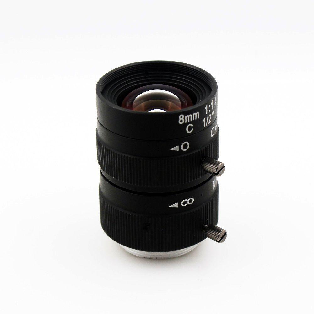 "3 Megapixel 8mm 1/2"" Lens Manual Fixed Lens C Mount Industrial lens For cctv camera box"