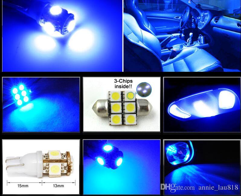 2017 8 X Premium Blue Led Lights Interior Package Kit For Mazda 3