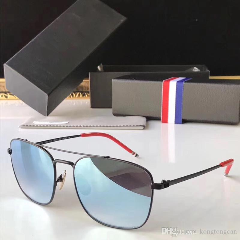 92fa56e9855 Vintage Fashion Sunglasses Thom Browne AW14 T58 Women Man Brand Design  Suqare Original Box And Case HD Lens Top Quality Sunglases Cheap Designer  Sunglasses ...
